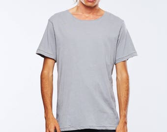 Mens T-shirt Grey Fitted By The Twenty Two
