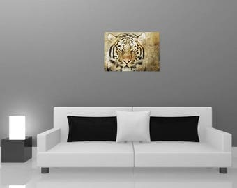 Tiger wall painting, digital art painting