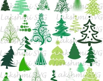 Merry Christmas SVG,Christmas tree Svg, pine tree svg Cut Files, Tree silhouettes, pine svg, trees dxf, eps, clip art for cricut, nature svg