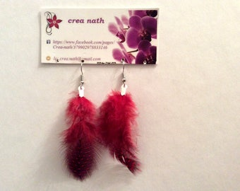 Red Feather earring