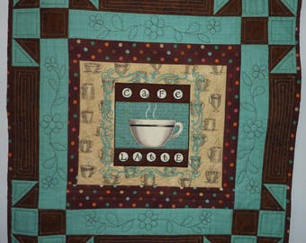 Quilted Wall Hanging - Cafe Latte