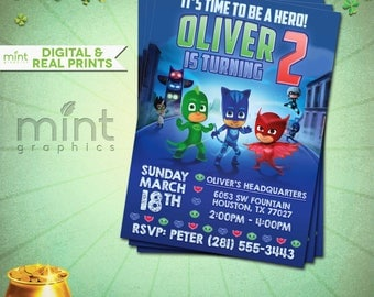 Pj Mask Invitation Pj Masks Printable Pj Mask Invite Pj Masks Birthday Pj Mask Party Pj Mask