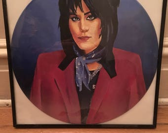 Joan Jett Hand Painted Record