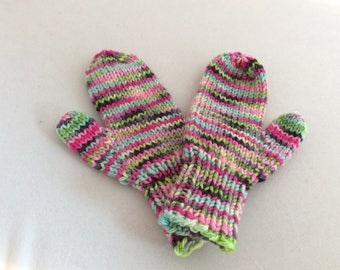SW merino Sugar pop mitts ( girls Med )