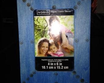 Artisan Blue Bubbles 4x6' Picture Frame