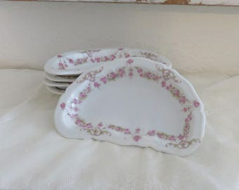 Vintage china, vienna austria, austria china, pink roses, shabby chic, swag roses, bone dish, kidney, french country, swag, china dish, chic