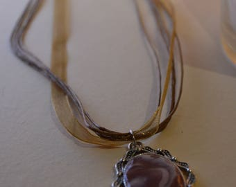 marble effect necklace