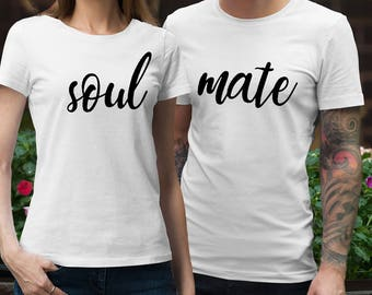Soul Mate Shirts Soul Mate T Shirts Soul Mate Couple Shirts Soul Mate tee Couple T Shirt Couple Tees Gift For Couple Matching Couple Shirts