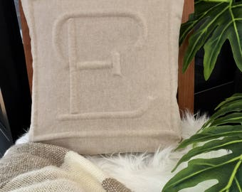 "Monogram ""E"" pillowcase"