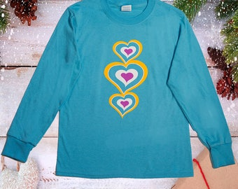 Youth Aqua Heart Graphic Tee