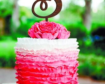 Letter Wedding Cake Topper Letter S Cake Topper Initials Cake Topper Unique Cake Topper wood Gold Monogram Cake Topper silver Wood letter S