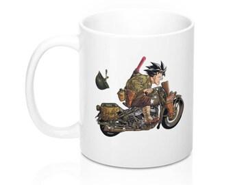 Sangoku Riding His Motorcyles Mugs 11Oz  15Oz  Dbz Dragon Ball Z