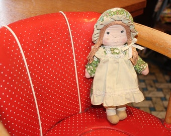 Vintage Doll Holly Hobbies Friend 70's, Cloth Doll 24 cm