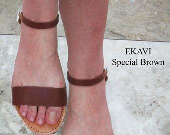 Brown Sandals, Ancient Greek Leather Sandals,sandals, sandales grecques,Sandals Wedding Dresses, wedding shoes, Handmade Sandals, EKAVI