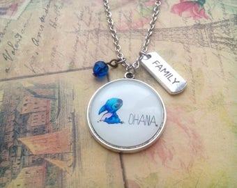 Ohana necklace, ohana means family