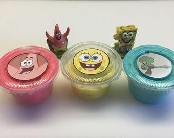 SpongeBob Trio- Borax-Free, Handmade Slimes!