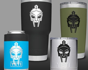 Gladiator Helmet 1 - YETI Cup, Water Bottle, Cell Phone Decal / Sticker