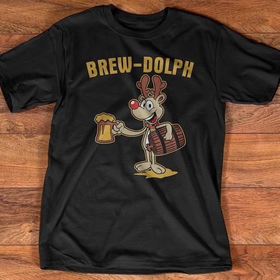 Funny Christmas Beer Reindeer T Shirt Gift