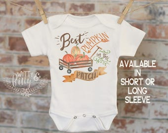 Best Pumpkin In the Patch Onesie®, Halloween Onesie, Fall Onesie, Cute Baby Bodysuit, Cute Onesie, Boho Baby Onesie, Pumpkin Onesie - 151B