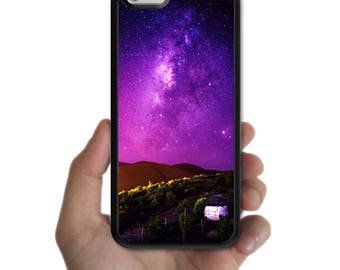 iPhone X 8 8 plus case 7 7 plus 6s plus 6s 6 plus 6 SE 5s 5 5c 4s 4 cover purple starry night sky star mountain case for apple