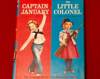 """Vintage Shirley Temple Edition """"Captain January""""/ """"Little Colonel"""" Book"""