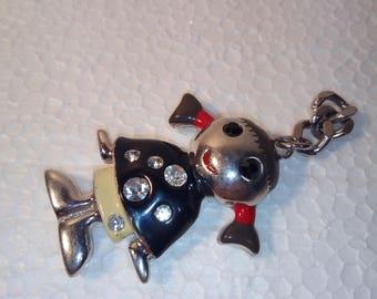Keychain,trinket,copper key ring,keychain girl with tails,a little girl,Wonderful keychain,heavy keychain,key chain with rhinestones