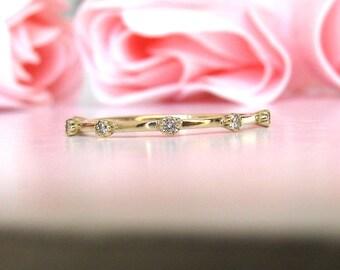 Diamond Wedding Ring, Diamond Wedding Band, Diamond Engagement, Stacking Ring, Dainty Diamond Ring, Minimalist Ring Diamond, Diamond Band