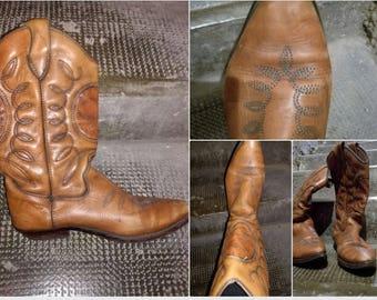 Cowboy boots, Vintage, leather