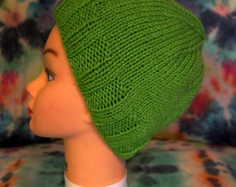 Lime Green Knitted Hat