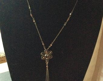 Brown Flower Pendant Necklace [SKU353]