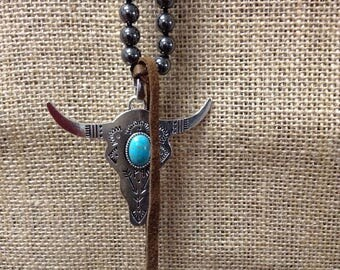 Hand-Tied Longhorn Necklace