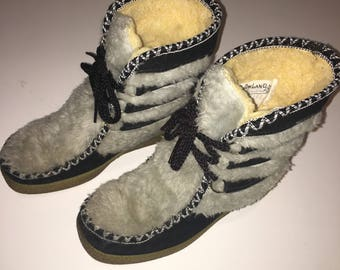 Vintage 70's Snowland Leather Boots