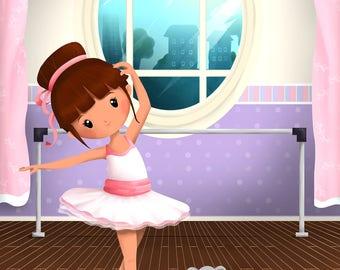 """Illustration for children """"Dancer"""""""