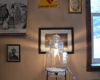Vintage Glass Ice Tea Decanter Light