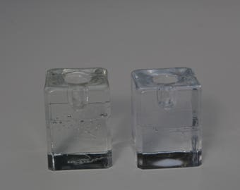 A set of two  Arkipelago Candle Holders designed by Timo Sarpaneva and made by Iittala, Finland