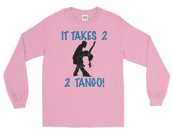 It Takes 2 2 Tango Unisex Spartees distressed Long Sleeve T-Shirt