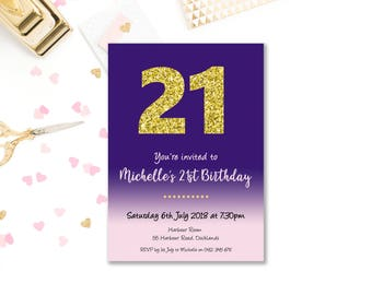 Fairy birthday invitations for girls printable pink birthday