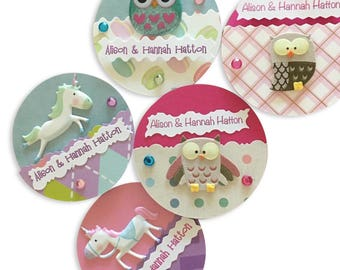 Owl/Unicorn Presentation Cards (Birthdays, Thank You, First Communion, Baptism and much more)