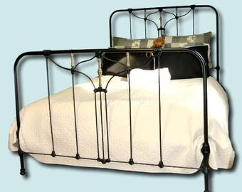 antique cast iron beds on etsy
