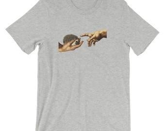 Cute Hedgehog Art | Michelangelo Creation of Hedgehog | Hedgehog T-Shirt Of Wonder | Indy Art