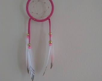 Pink and gold dream catcher