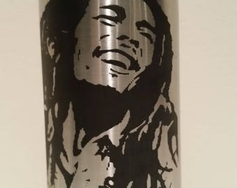 Bob Marley Double-Wall Vacuum Insulated Stainless Steel Bottle 17 oz (500ml) 48+ Hours Cold Performance