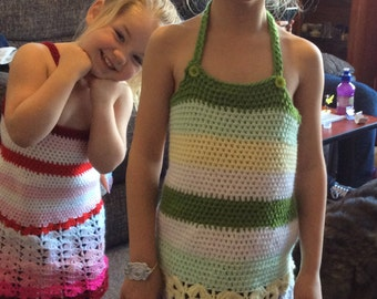 Get ready for the sun with this child's sun dress. Crocheted to order