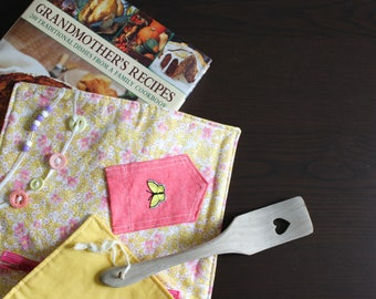 Fidget Blanket - Feminine Floral - Dementia Alzheimer's - Fidget Quilt - Sensory Blanket - for adults - Activity Blanket Lap Pad SLB-001YP