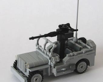 LEGO MILITARY Custom Willys Jeep With Gun
