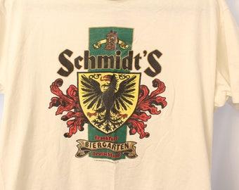 Vintage 1989 Schmidt's Beir Tee - L