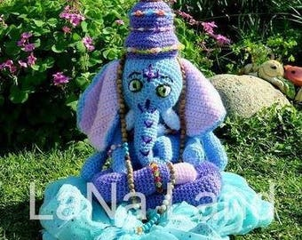 AMIGURUMI # stuffed Elephant # ganesha # hinduism # deity # Yoga # crochet # handmade # gifts # dolls # Toys