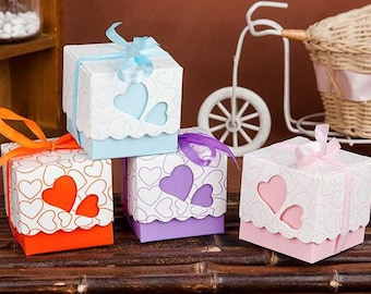 Bridal Shower Favors Heart Candy Boxes - Box Wedding Heart Wedding Party Favor - Shower Guest Favor Boxes - Bridal Favor Boxes Favors Heart