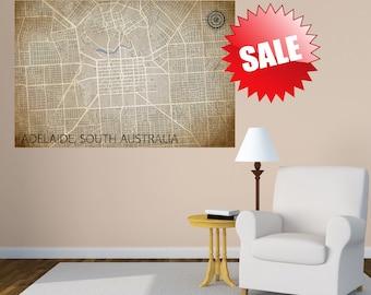 ADELAIDE Print, Australia Map, Street Map Print, Holiday Gift, Australia Poster, Adelaide Map, Adelaide Poster, Australia Print, Gift Item