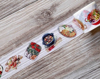food washi tape, Menu Washi Tape, chef washi tape,Signboard Washi Tape,Box lunch washi tape